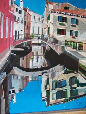 Cannaregio Venise 51x65 acrylique sur toile coton 0516
