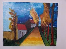 Chemin n°1 46x38 acrylique sur toile coton 0515