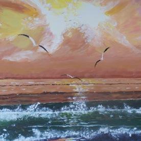 Horizon n°2 38x46 acrylique sur toile coton 1215