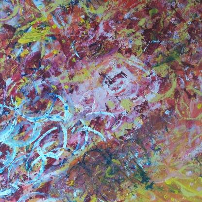 Rythmes N°1 46X38 acrylique sur toile coton 0118