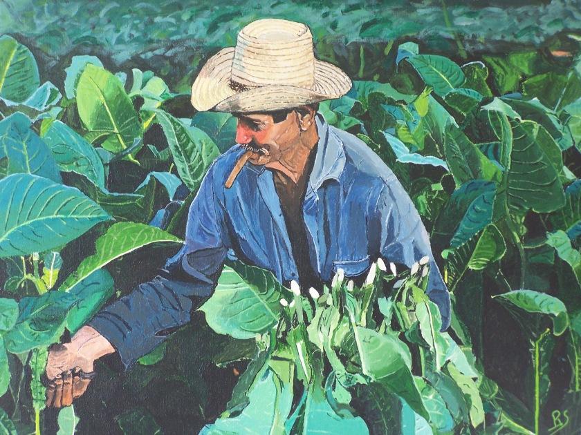 La récolte 55x46 acrylique sur toile lin 0518
